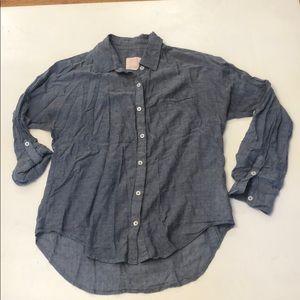 Quicksilver womens chambray button down shirt